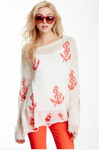 Wildfox Couture Shipwrecked Lennon Sweater SMALL