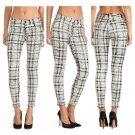 Seven For All Mankind Skinny Pants Black/White Plaid