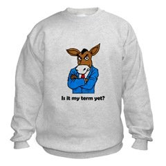 Pissed Democrat Donkey Sweatshirt