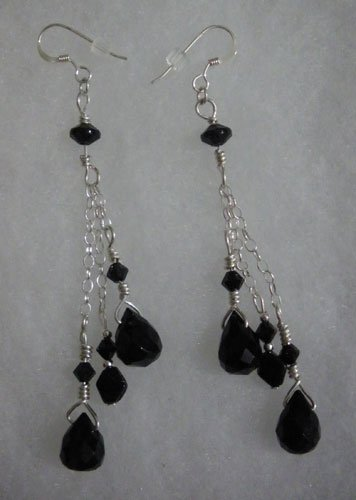 Chandelier Black Long Dangles