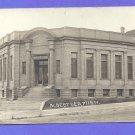 RPPC 1908  Albert  Lea MN Minnesota Carnegie Library Dirt Street Postcard