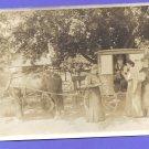 U. S. Horse Drawn Mail Wagon Postman Women Antique Photo Photograph