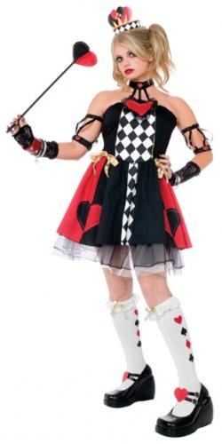 Queen of Hearts Costume Child Size M Medium 8-10