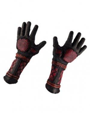 Deluxe Samurai Ninja Horror Gray/Red/Black Hands Gloves
