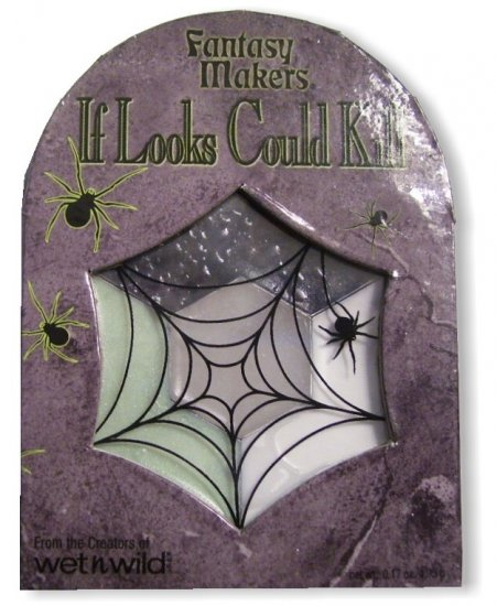 Makeup, Compact - Glow in the Dark, Black and White, Goth Halloween Costume Accessory