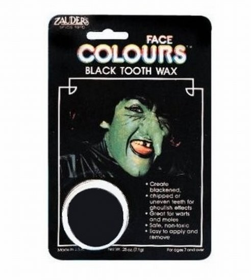 Tooth Black Out Wax Rotten Looking Teeth Warts Moles Blackout Halloween Makeup Witch Pirate