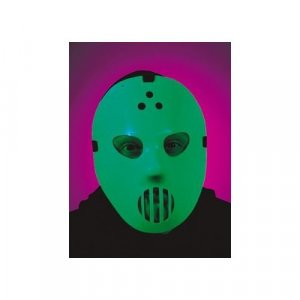 Hockey Mask Glow in the Dark Jason Halloween Costume Accessory