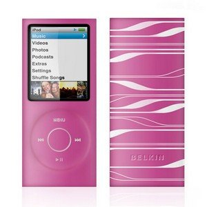 Belkin Sonic Wave Two-Tone Silicone Sleeve Case for iPod nano 4G 8GB/16GB Video Pink F8Z379-PTW