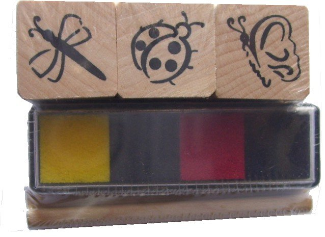 Rubber Stampede Bugs and Insects Desktop Teacher Rewards Stamp Set