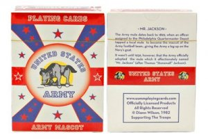 US Army Mascot Deck of Playing Cards