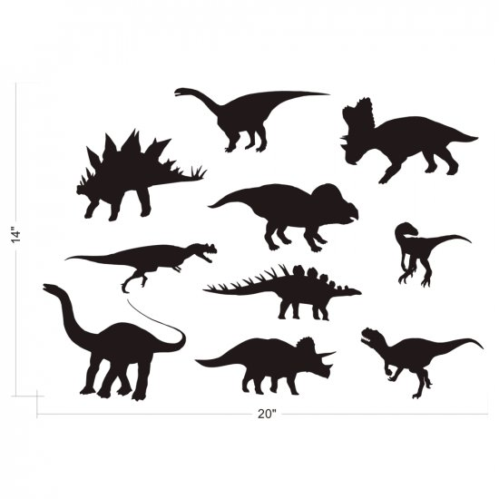 DINOSAURS WALL VINYL DECALS ART GRAPHICS STICKERS
