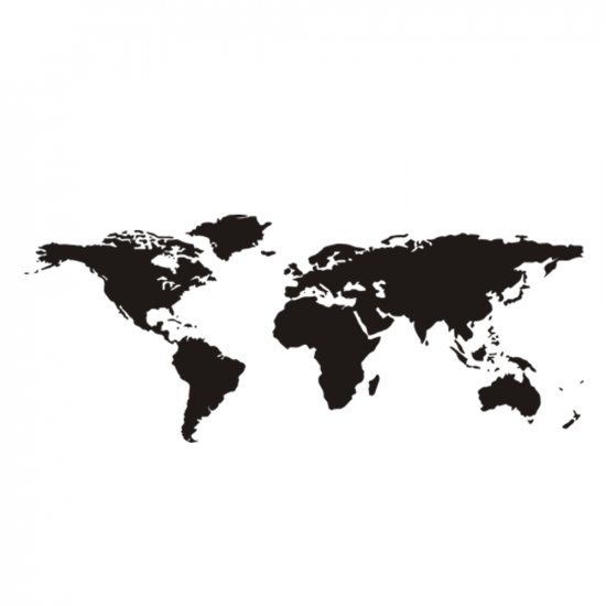 AROUND THE WORLD WALL VINYL DECALS ART GRAPHICS STICKERS