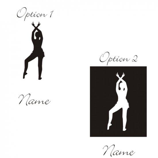 Personalized Cielo Ballerina Wall Vinyl Decals Art Graphics Stickers