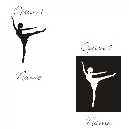 Personalized Gabriela Ballerina Wall Vinyl Decals Art Graphics Stickers