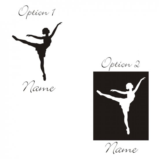 Personalized Maria Antonia Ballerina Wall Vinyl Decals Art Graphics Stickers