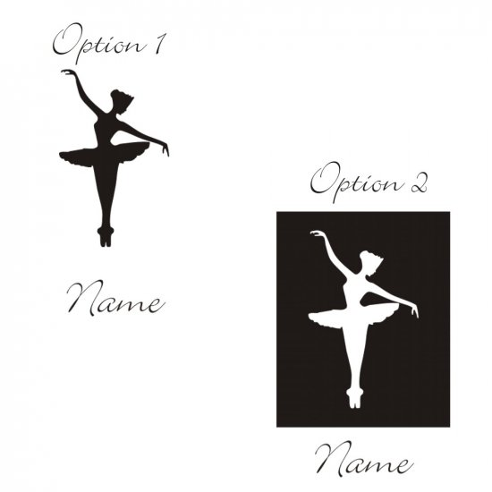Personalized Emma Ballerina Wall Vinyl Decals Art Graphics Stickers