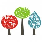 Fancy Forest Wall Vinyl Decals Art Graphics Stickers