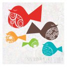 Fancy Birds Wall Vinyl Decals Art Graphics Stickers