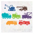 CONSTRUCTION TRUCKS VOL 2WALL VINYL DECALS ART GRAPHICS STICKERS