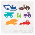 CONSTRUCTION TRUCKS WALL VINYL DECALS ART GRAPHICS STICKERS