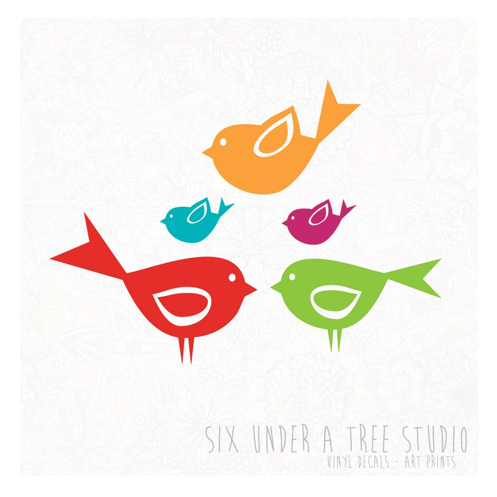 LITTLE BIRDS WALL VINYL DECALS ART GRAPHICS STICKERS