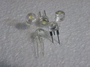 10x 8mm Strawhat 35Lm Led
