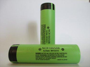 Panasonic NCR18650B 3400mA Li-ion Rechargeable Original Batteries 2Pcs with Case