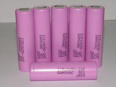 Samsung ICR18650 2600mah Original Li-ion Rechargeable Battery 6PCS