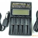 Universal Smart Charger LCD Display for 18650, CR123, 26650, AA & AAA Batteries