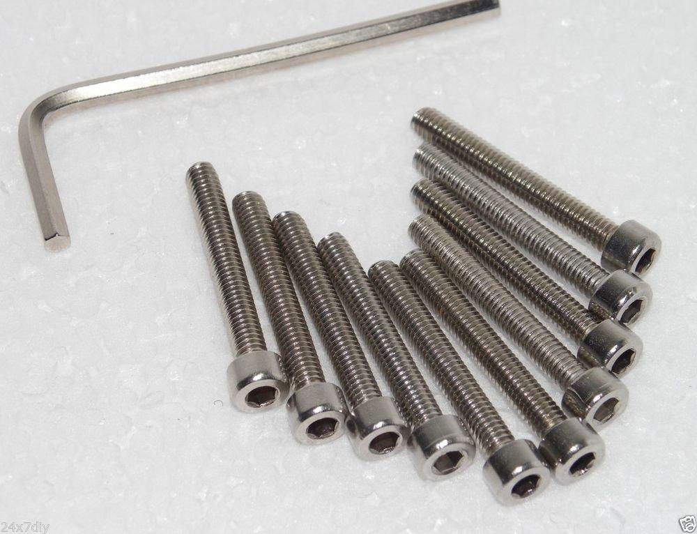 M4 x 30mm Socket Cap Screws Fully Threaded 10Pcs Free Allen Key