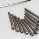 M4 x 30mm Socket Cap Screws Fully Threaded 10Pcs Free Allen Key