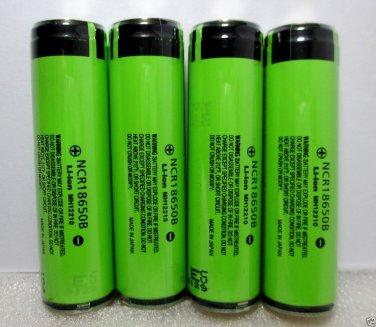 Panasonic NCR18650B 3400mA Li-ion Protected Batteries (Flat Top) 4Pcs