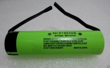Panasonic NCR18650B 3400mA Li-ion Rechargeable Original Battery with Tabs