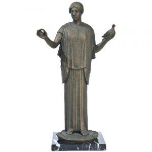 Greek Goddess Athena Statue Ancient Symbol of Peace Sculpture