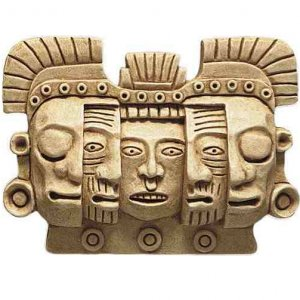 Mask of Death and Rebirth MAYA Stone wall plaque