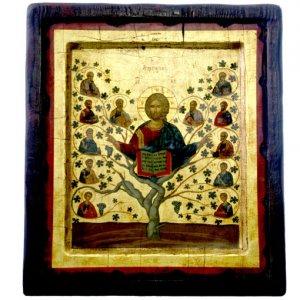 Orthodox Byzantine Icon Tree of Life of Jesus Christ