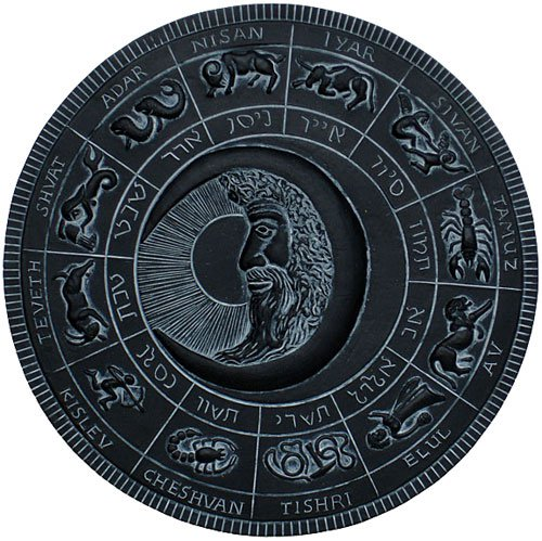 Moon Fest Jewish Lunar Calendar Plaque