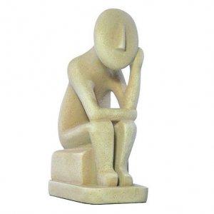 Cycladic Thinker Early Greek Island Statue