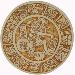 Maya Art Ball Player Ulama Palenque Wall Relief