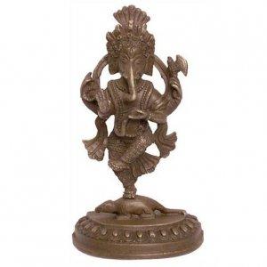 Dancing Ganesh Bronze Statue, Hindu God of Wisdom and Success