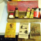 PRICE REDUCED - 1945 GUNSLICK OUTERS 22 CLEANING KIT BOX REMINGTON TUBE SEARS TIN ROD BOOKLETS MORE!