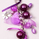 Purple Beaded Chain Clip