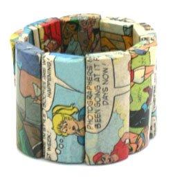 Comic Paper Mache Rectangle Bracelet Our COMIC collection!