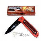 Homeland Heroes - Frost Cutlery Red Folding Pocket Knife
