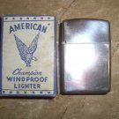 WWII AMERICAN CHAMPION WINDPROOF LIGHTER Silver Brand New In Box
