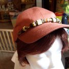 Coppery colored Beaded Baseball Cap