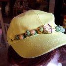 Light Green Beaded Basedball Cap