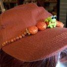 Rusty Frog Beaded Baseball Cap