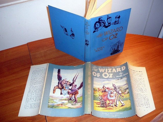 1944 edition. The Wizard of Oz with original dust jacket.. Printed by Bobbs Merrill