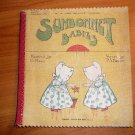 Sunbonnet babies by P.S.Bruff, pictured by G,Hall London, Cloth book